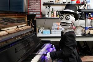 робот фортепиано