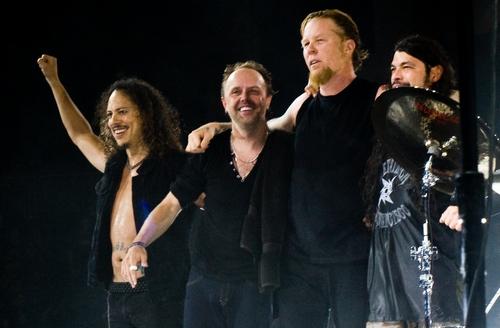 Музыканты группы Metallica презентуют свой фильм в России